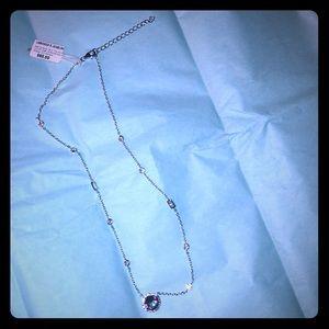 """Jewelry - NWT SS 16""""round mystic CZ Necklace❤️"""